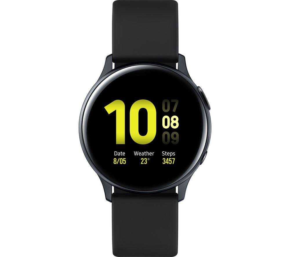 SAMSUNG Galaxy Watch Active2 - Black Aluminium, 40 mm