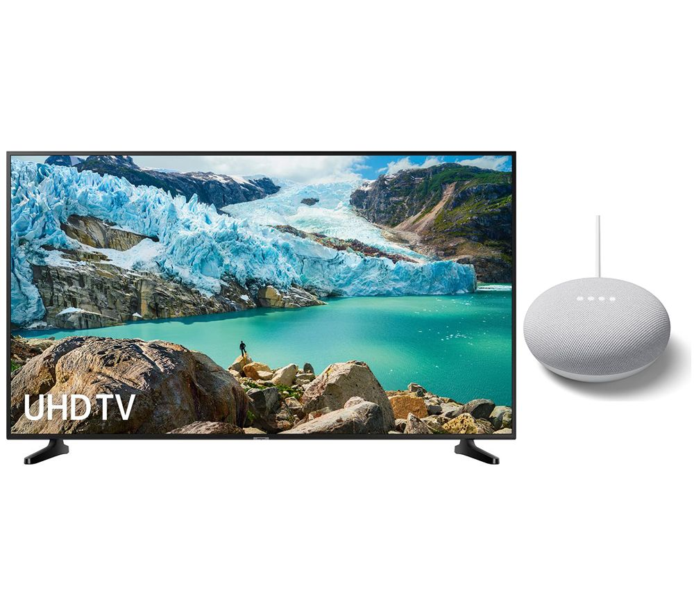 "SAMSUNG UE43RU7020KXXU 43"" Smart 4K Ultra HD HDR LED TV & Nest Mini Bundle"