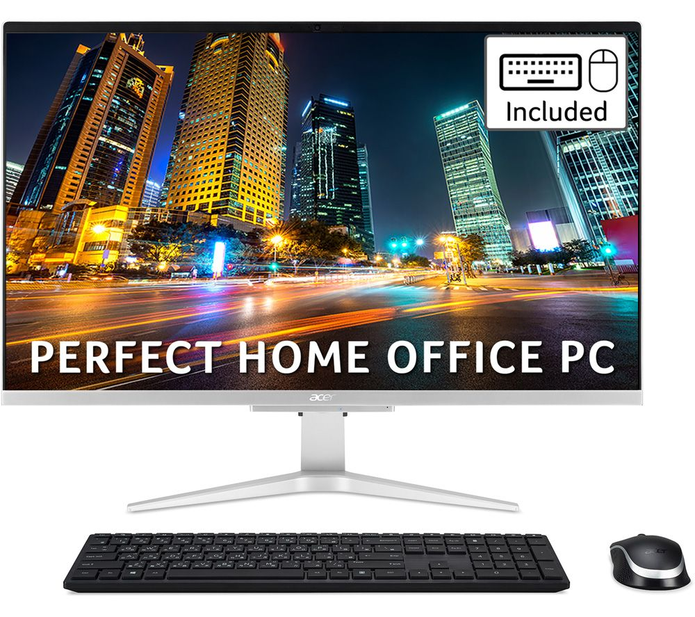 "Image of ACER Aspire C27-962 27"" All-in-One PC - Intel® Core™ i5, 1 TB SSD, Silver"