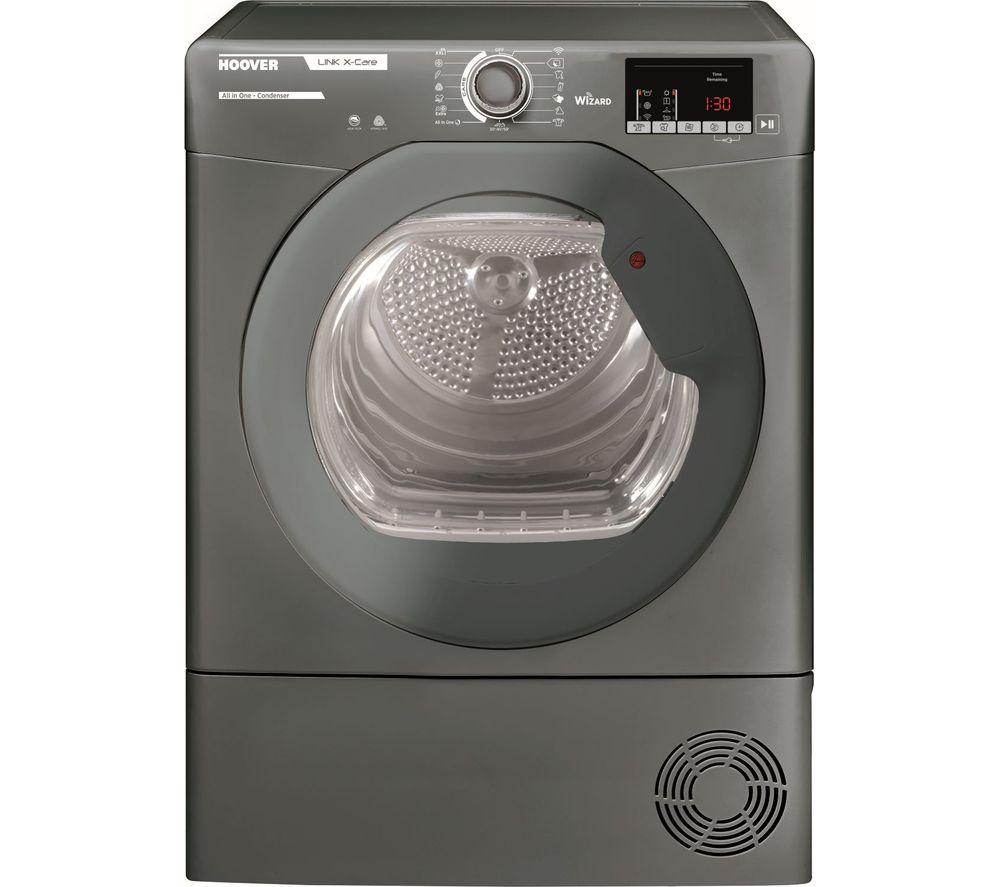 HOOVER Link X Care HLX C10DRGR WiFi-enabled 10 kg Condenser Tumble Dryer - Graphite, Graphite
