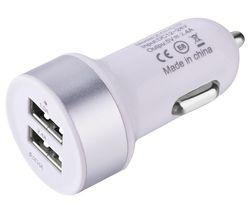 DEV-SMRTCAR-2USBADAP-WHT Universal USB Car Charger
