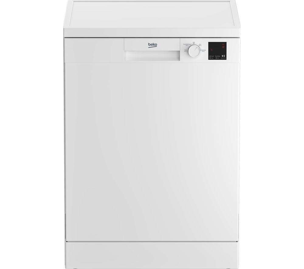 Image of BEKO DVN04X20W Full-size Dishwasher - White, White