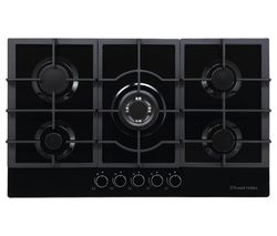 RH75GH602DS Midnight Collection Gas Hob – Black Glass