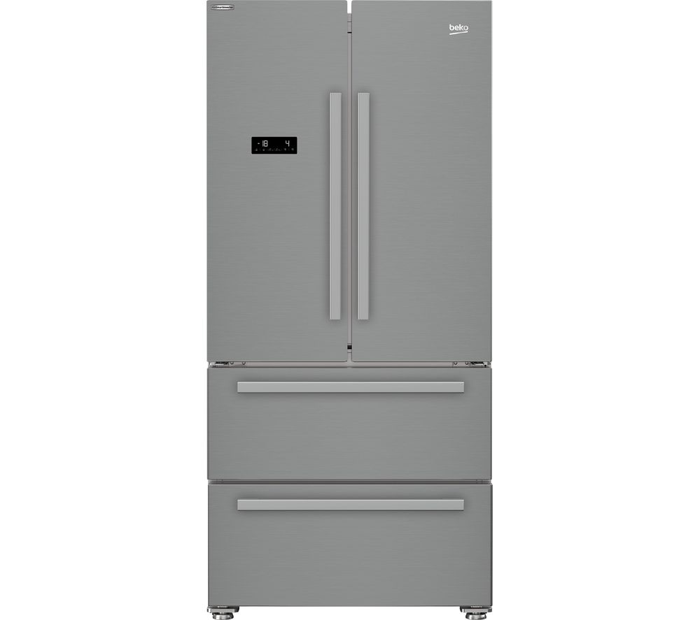 BEKO GNE360520PX American-Style Fridge Freezer - Brushed Steel