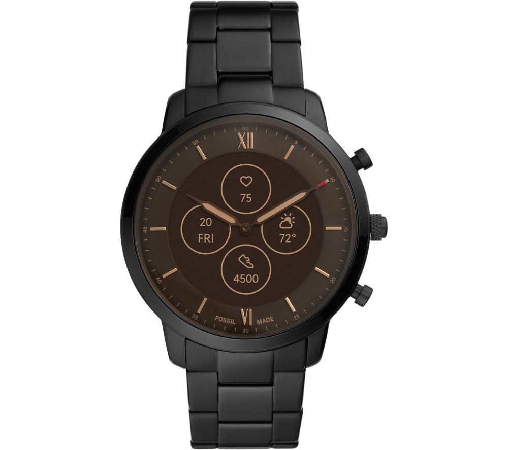 FOSSIL Neutra Hybrid HR FTW7027 Smartwatch - Black, Stainless Steel Strap