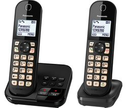 KX-TGC462EB Cordless Phone - Twin Handsets