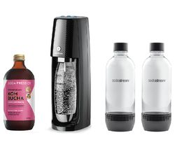 One Touch Sparkling Water Maker & Kombucha Concentrate Bundle