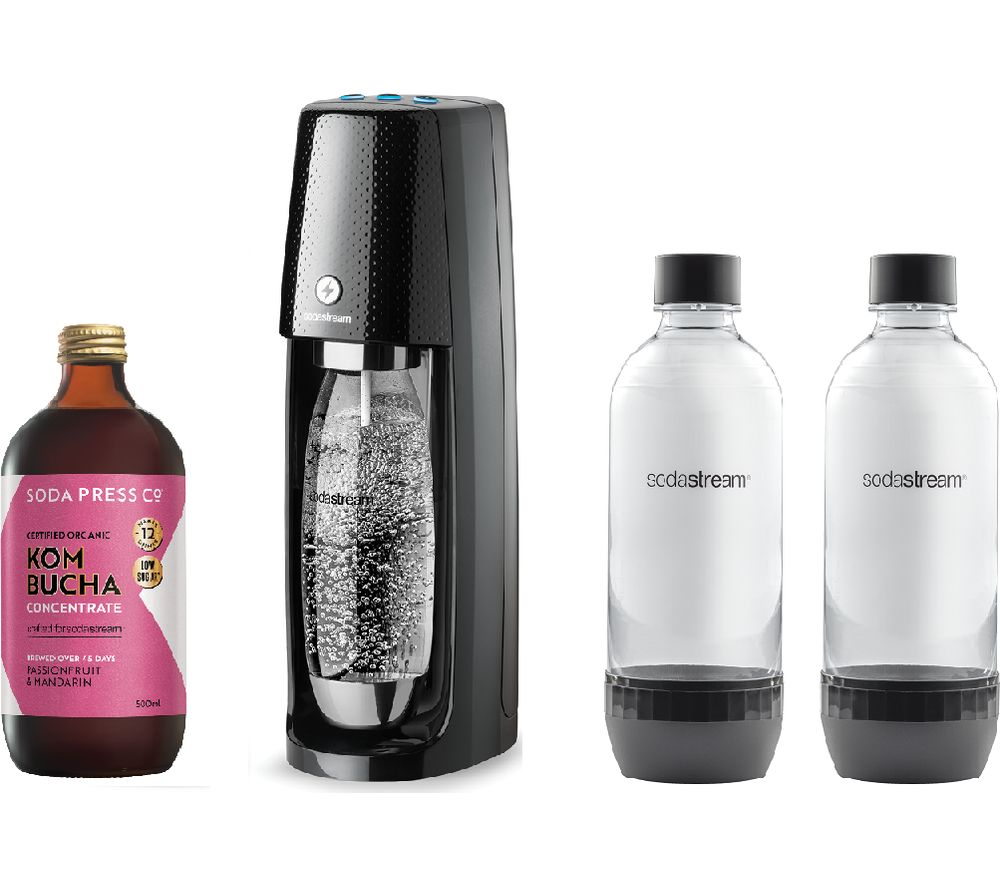 SODASTREAM One Touch Sparkling Water Maker & Kombucha Concentrate Bundle