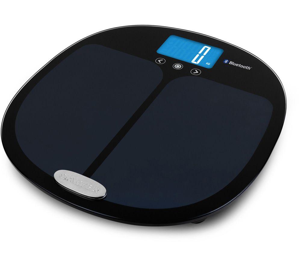 SALTER Curve 9192 BK3R Bathroom Scales - Black