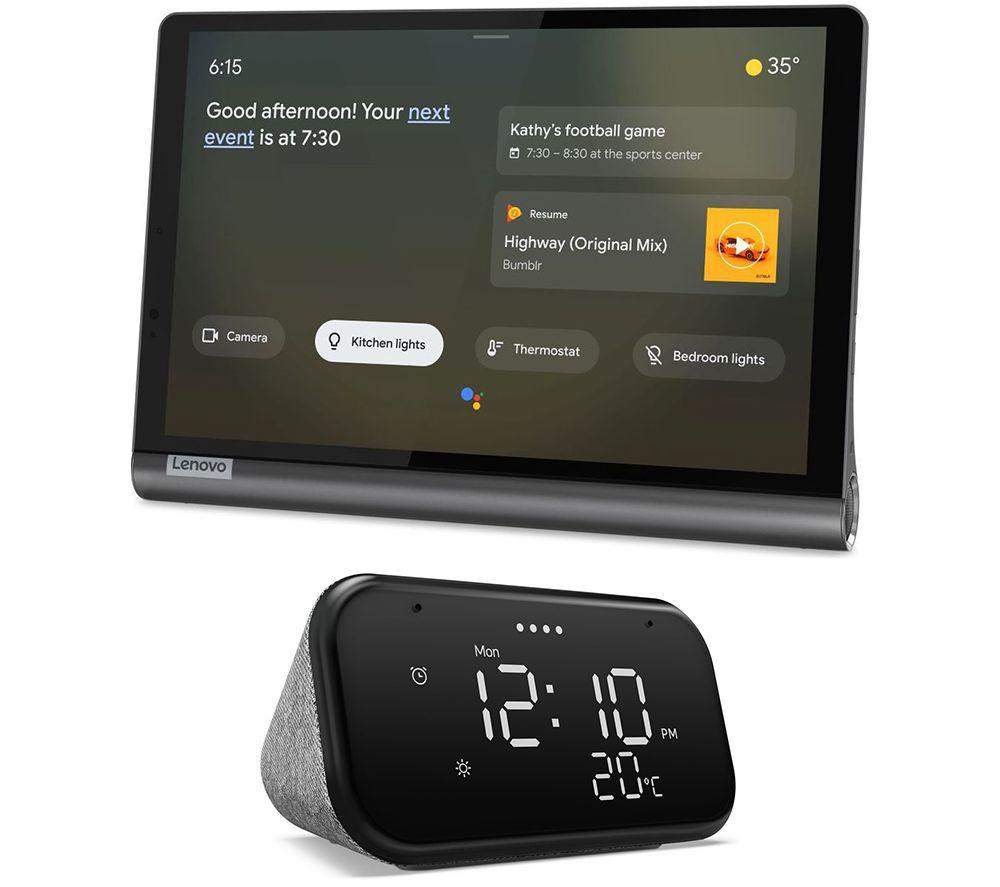 "LENOVO YOGA Smart Tab 10.1"" Tablet & Smart Clock Bundle - 64 GB, Black"