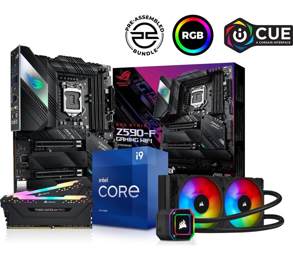 Image of PCSPECIALIST Intel® Core™ i9 Processor, ROG STRIX Motherboard, 16 GB RAM & Corsair RGB Cooler Components Bundle