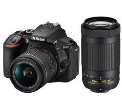 D5600 DSLR Camera with AF-P DX 18-55 mm f/3.5-5.6G VR Lens & 70-300 mm f/4.5-6.3G ED VR Lens