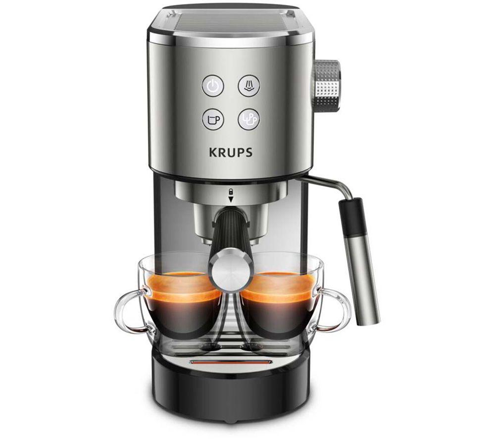 KRUPS Virtuoso XP442C40 Coffee Machine – Stainless Steel & Black