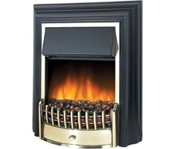 Cheriton CHT20 Electric Fireplace - Black & Brass