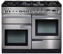 RANGEMASTER Professional+ 110 Gas Range Cooker - Stainless Steel & Chrome