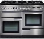 RANGEMASTER Professional+ 110 Gas Range Cooker - Stainless Steel & Chrome