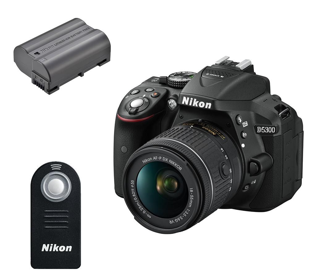 NIKON D5300 DSLR Camera with 18-55 mm f/3.5-5.6 Zoom Lens