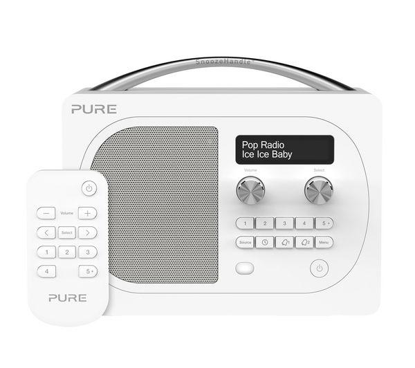 Vl 62326 Pure Evoke D4 Dab Bluetooth Radio White Currys Pc World Business
