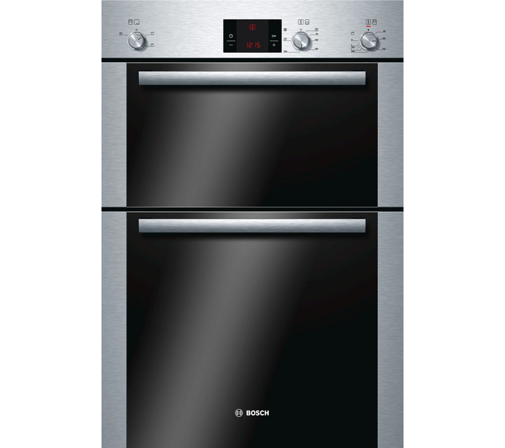 BOSCH Serie 6 HBM13B251B Electric Double Oven - Brushed Steel