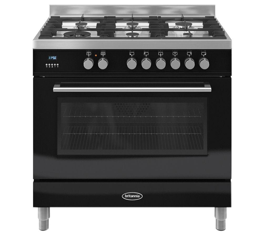 BRITANNIA Q Line 90 Dual Fuel Range Cooker - Black