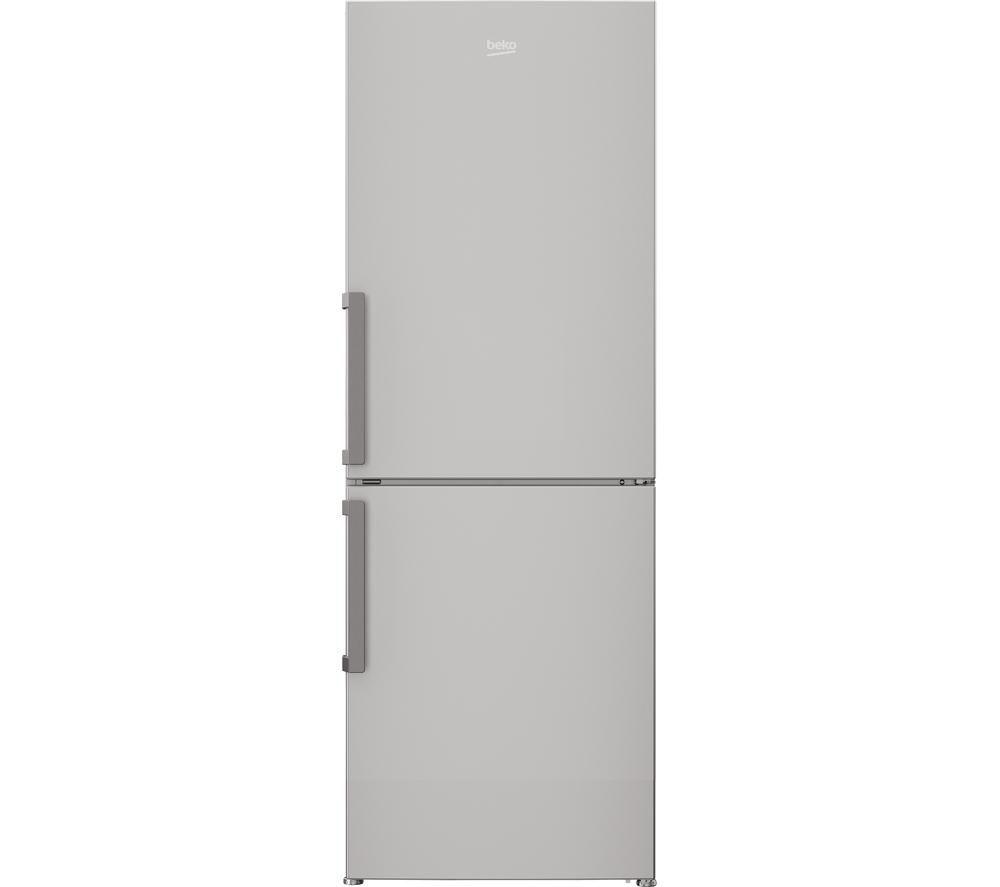 BEKO CFP1675S 60/40 Fridge Freezer - Silver + DCX83100W Condenser Tumble Dryer - White