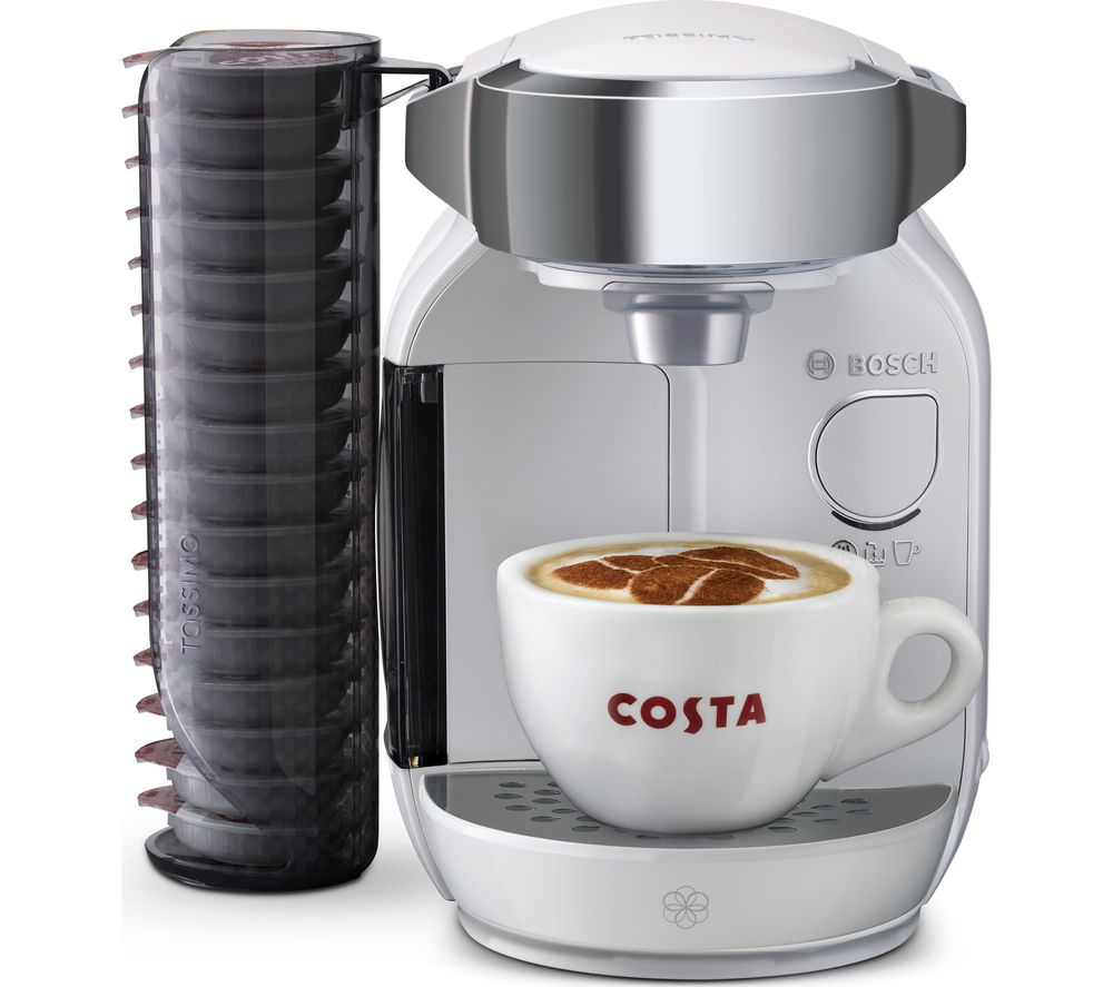 buy tassimo by bosch caddy coffee machine white free delivery currys. Black Bedroom Furniture Sets. Home Design Ideas