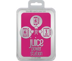 JUICE Power Station Portable Power Bank - Pink