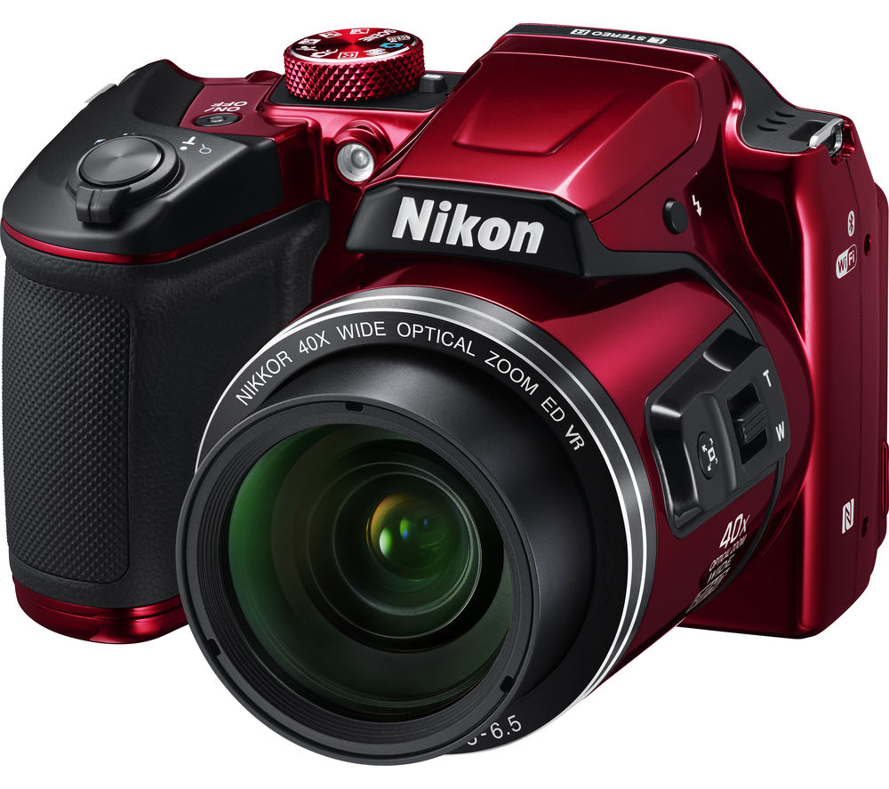 NIKON COOLPIX B500 Bridge Camera - Red + TLZ 20 Format Toploader DSLR Camera Bag - Black