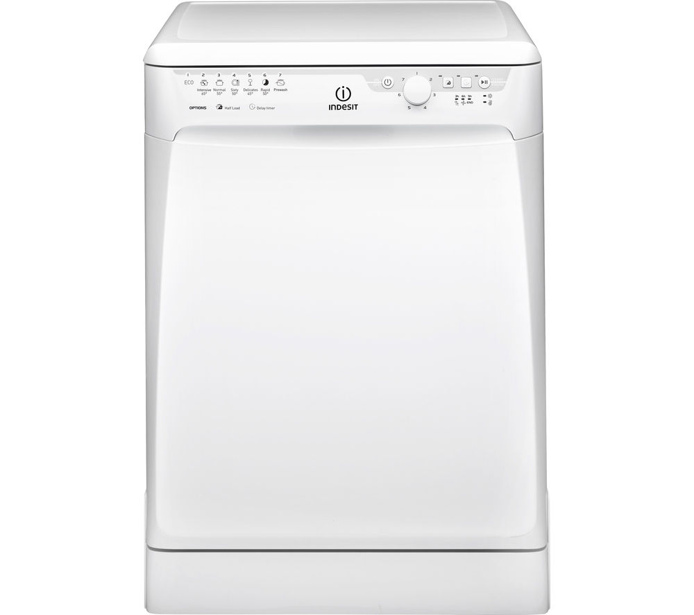 Super Buy INDESIT Prime DFP 27B1 UK Full-size Dishwasher - White | Free AH-69