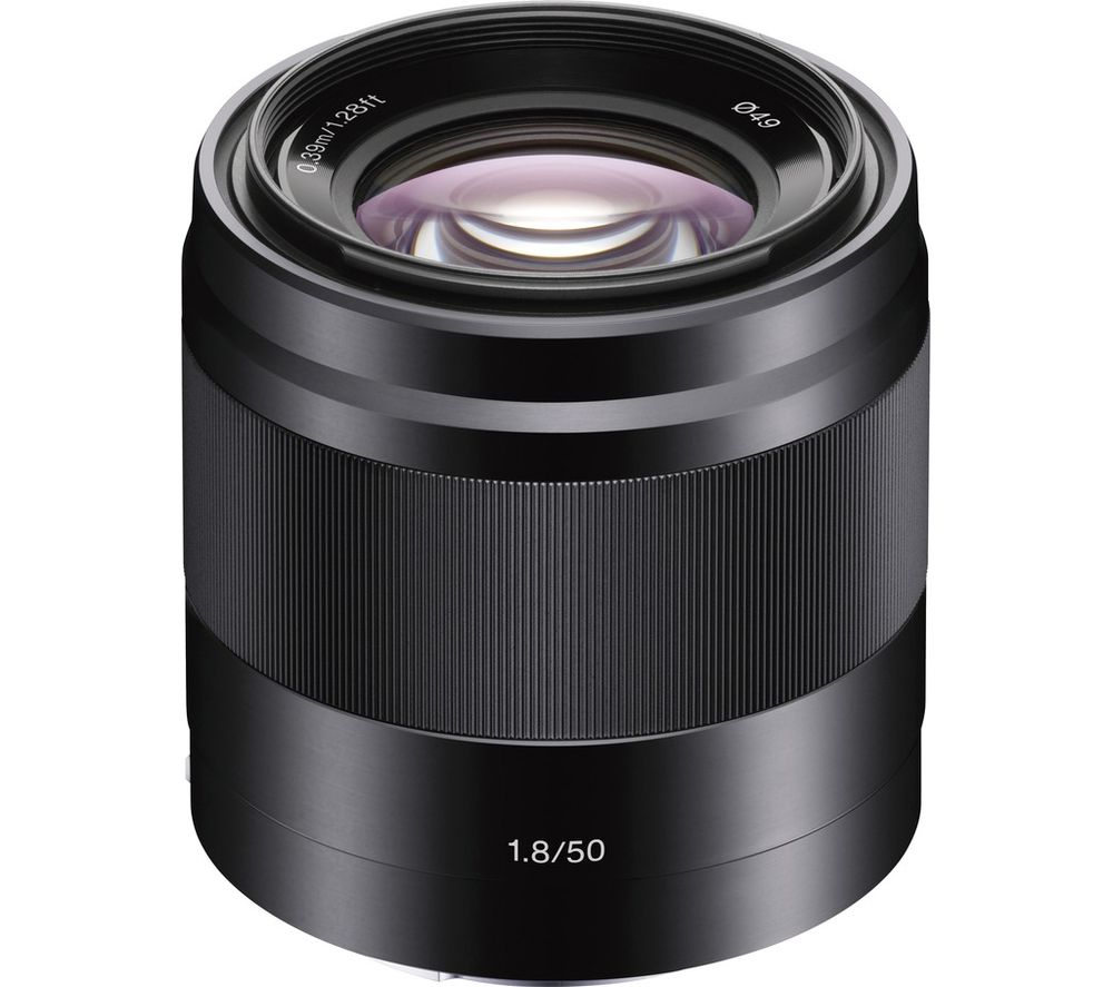 SONY E 50 mm f/1.8 OSS Standard Prime Lens - Black