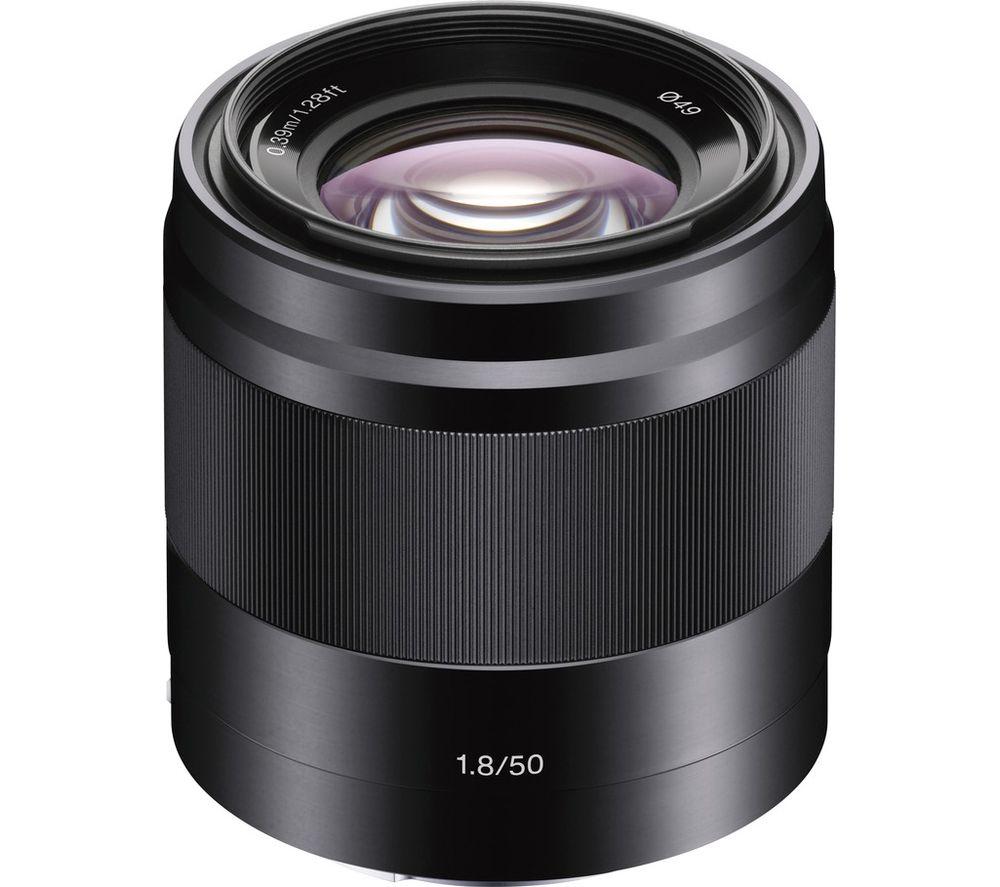 SONY E 50 mm f/1.8 OSS Standard Prime Lens - Black