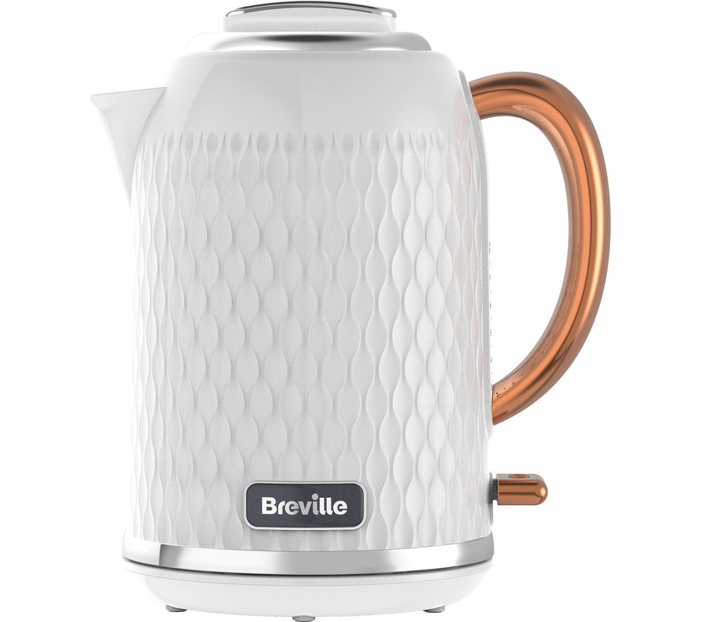 Buy BREVILLE Curve VKT018 Jug Kettle - White & Rose Gold | Free ...