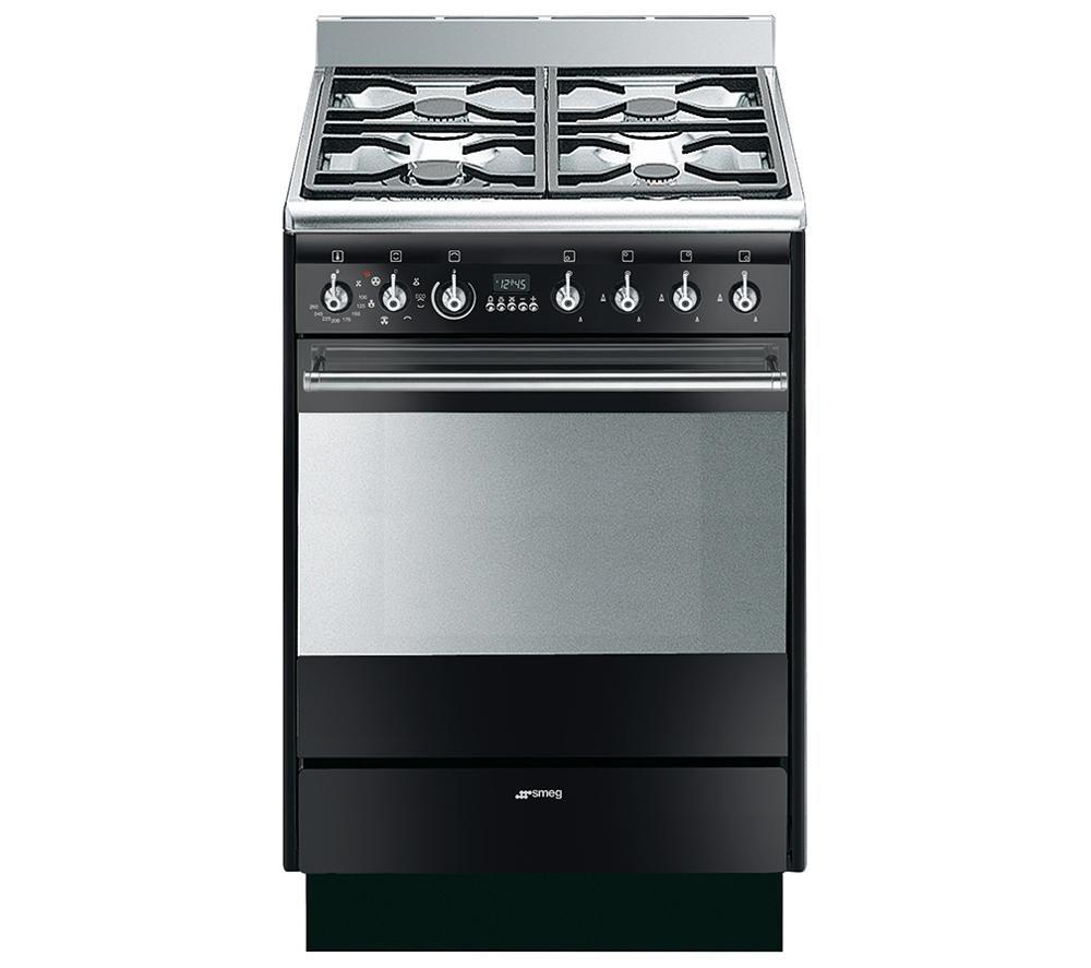 SMEG SUK61MBL8 Dual Fuel Cooker - Gloss Black