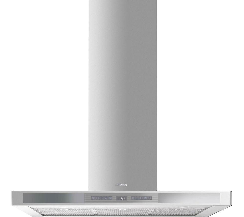 SMEG KS912XE Chimney Cooker Hood - Stainless Steel & Silver Glass