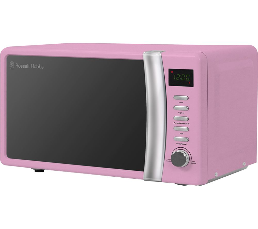 RUSSELL HOBBS RHMD702PK Compact Solo Microwave - Pink
