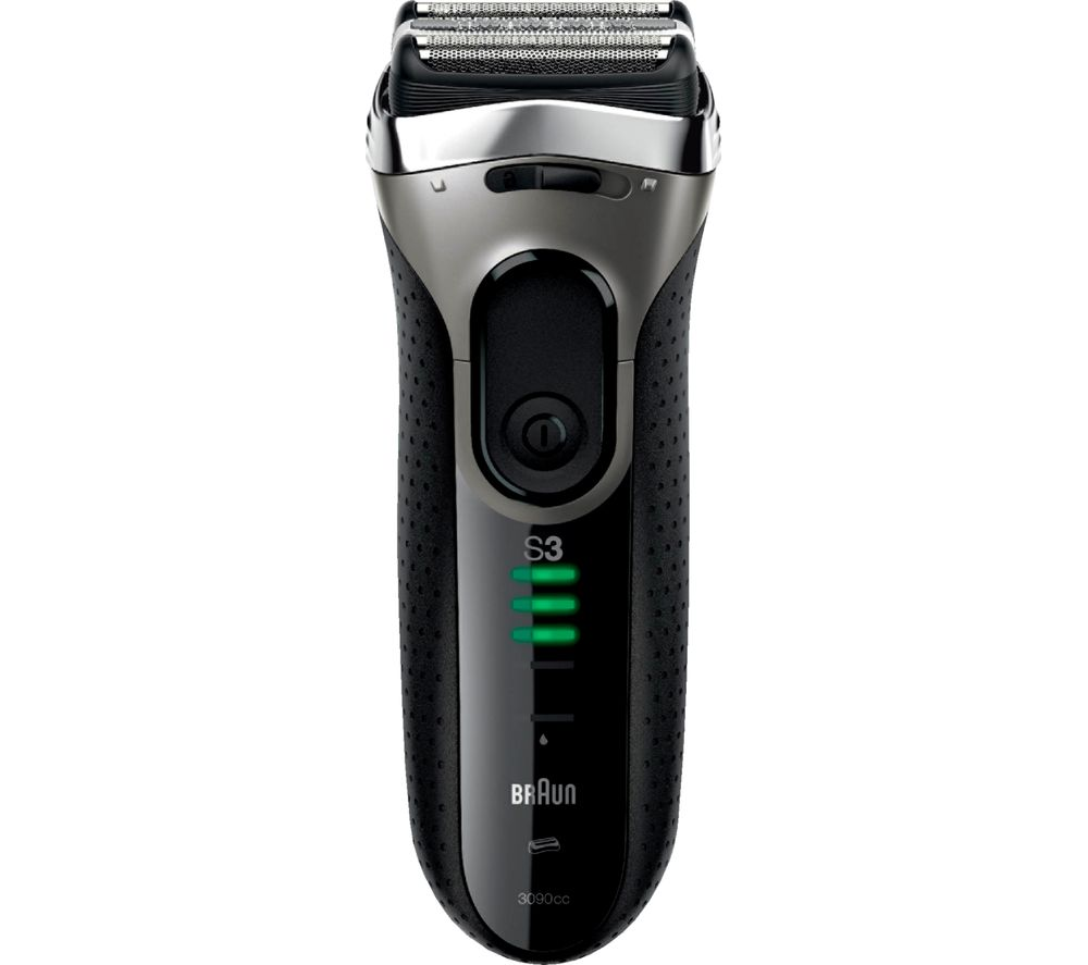 BRAUN 3090CC Shaver - Black & Silver