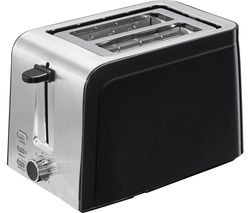 L02TSS17 2-Slice Toaster - Black & Stainless Steel
