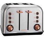 MORPHY RICHARDS Accents 102105 4-Slice Toaster - Brushed Stainless Steel & Rose Gold