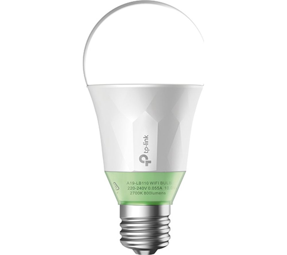 TP-LINK LB110 Smart WiFi LED Bulb - E27 with B22 Adapter