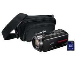 JVC GZ-R435 Camcorder, Bag & 32 GB SD Card Kit - Black