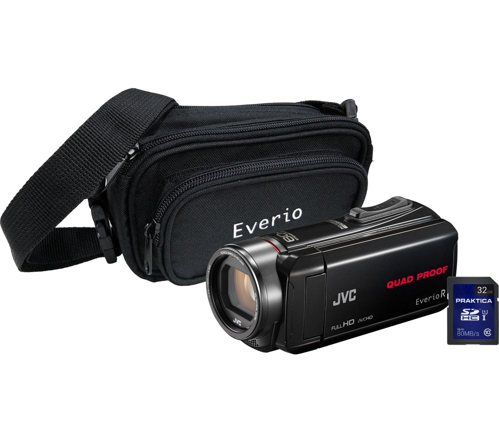 JVC GZ-R435 Camcorder, Bag & SD Card Kit - Black