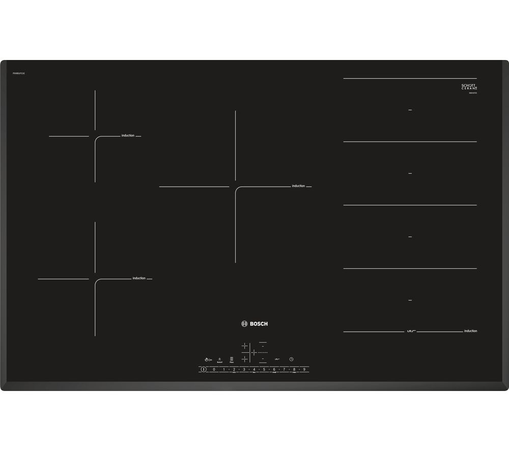 BOSCH PXV851FC1E Electric Induction Hob - Black