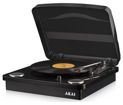 AKAI Classic A60020B Bluetooth Turntable - Black