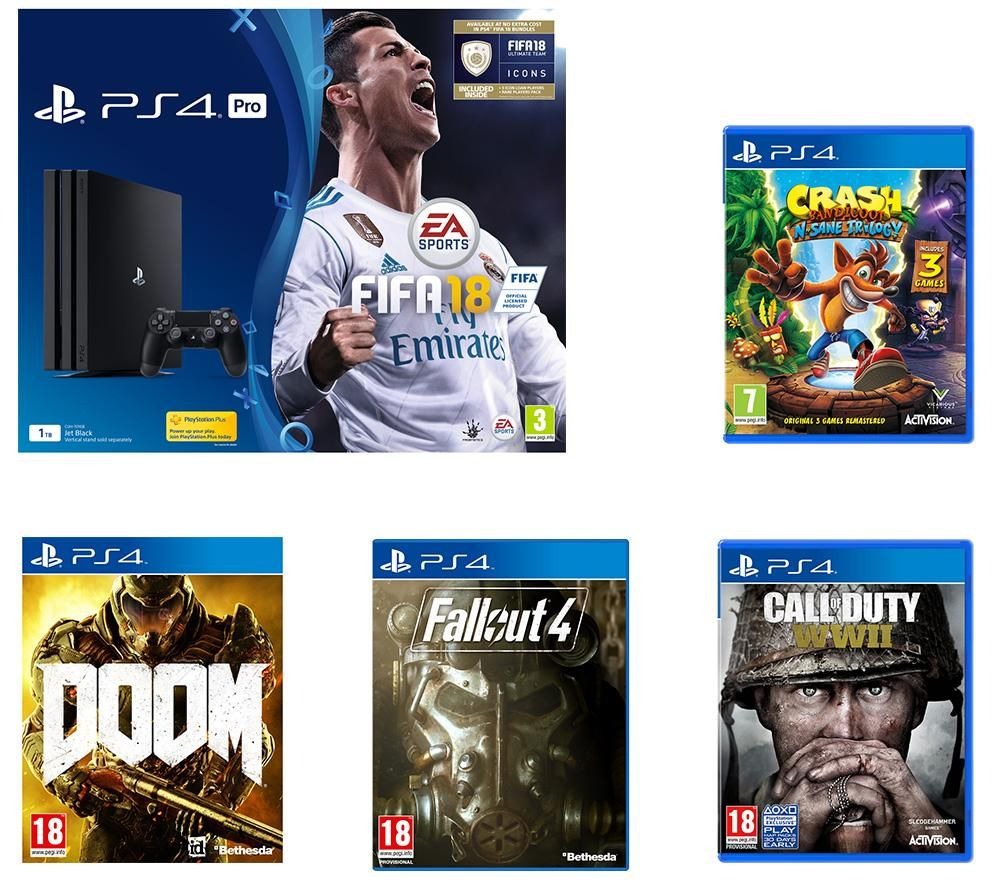 UK Daily Deals: PS4 Pro 1TB FIFA 18 Bundle With COD: WWII