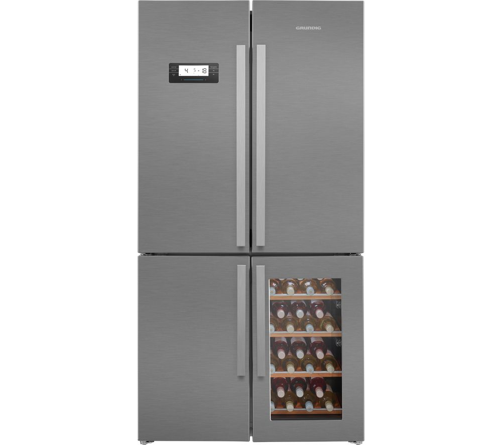 GQN21220WX Fridge Freezer - Stainless Steel, Stainless Steel