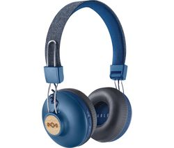 Image of HOUSE OF MARLEY Positive Vibration 2.0 Wireless Bluetooth Headphones - Blue