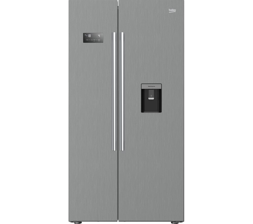 Beko ASDM241PX Fridge Freezer - Steel American-Style, Brushed Steel