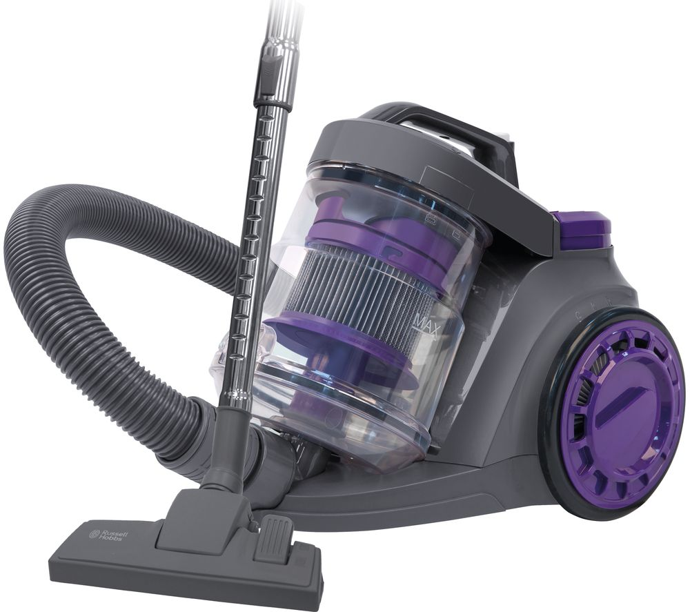 RUSSELL HOBBS RHCV3511 Cylinder Bagless Vacuum Cleaner - Purple & Grey