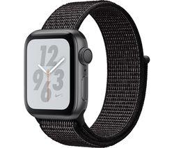 APPLE Watch Nike+ Series 4 - Space Grey & Black Sports Band, 40 mm