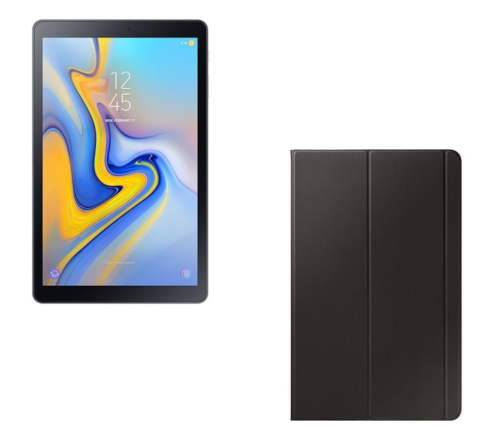 """SAMSUNG Galaxy Tab A 10.5"""" Tablet & Smart Cover Bundle - 32 GB, Grey"""